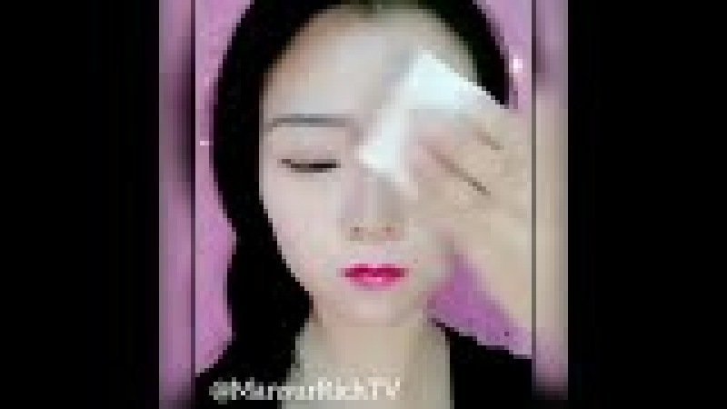 кореянки до и после макияжа