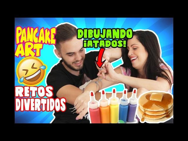 DIBUJANDO CON PANCAKE | RETOS DIVERTIDOS | Con SandraCiresArt