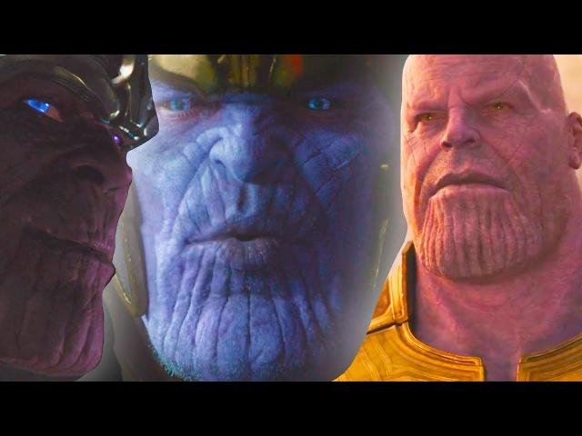 Почему цвет кожи Таноса меняется? Все появления Таноса в киновселенной Марвел   ...