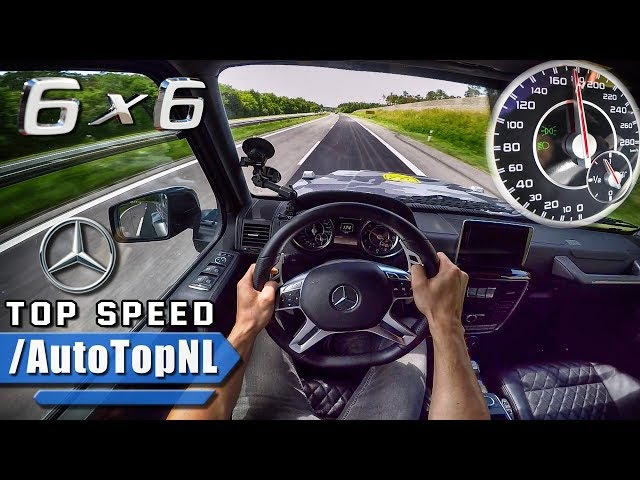 MERCEDES G63 AMG 6X6 AUTOBAHN POV ACCELERATION TOP SPEED by AutoTopNL