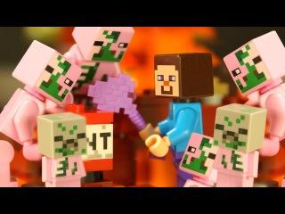 Бой в Подземелье для Лего НУБика Майнкрафт Мультики LEGO Minecraft - Видео Мультфильмы для Детей