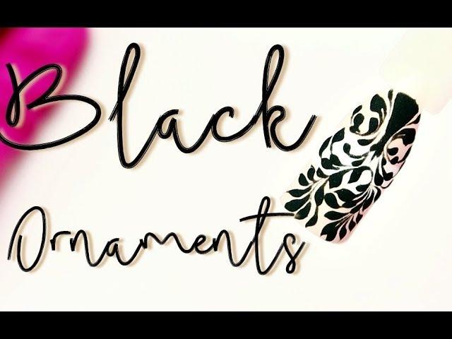 💅Mix Media💅 :: Black Ornaments Nailart :: Odette Swan