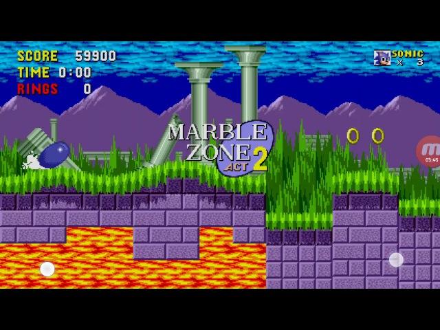 Sonic 1 андроид марбл зон акт 1,2