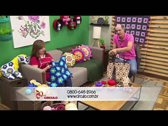 Ateliê na TV - Rede Vida - 26.02.2018 - Cristina Luriko (Tapete) e Giovana Tawil (Organizador)
