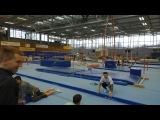 "Marcel Nguyen on Instagram: ""A glimpse of today's floor training??♀️✌? #floortraining #gymnastics #training #reebok #floorroutine #themarcelnguyen"""