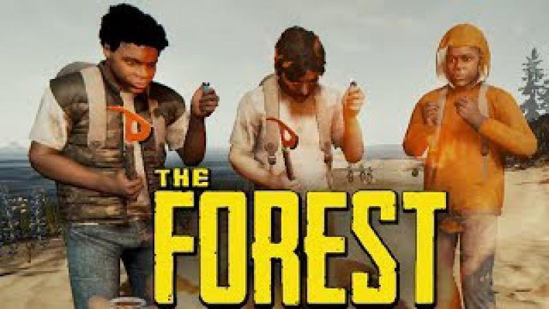 4 ЧЕЛОВЕКА ВЫЖИВАЮТ В ЛЕСУ (УГАР) - The Forest