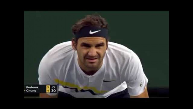 Roger Federer vs Hyeon Chung QF Indian Wells 2018 Full Highlights
