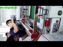 Screen printing semi auto servo motor silk screen printer PSA-8060 training for operation