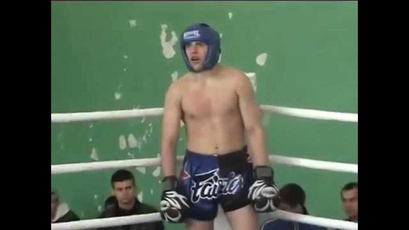 Пискарев Евгений СК СКИФ, 2й бой кикбоксинг г.Севастополь, январь 2005