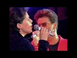 Queen + George Michael &amp Lisa Stansfield - These Are The Days Of Our Lives (different camera angle)