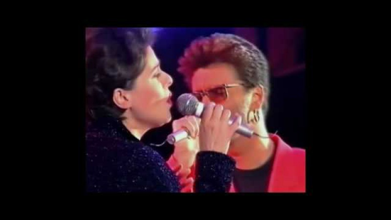 Queen George Michael Lisa Stansfield - These Are The Days Of Our Lives (different camera angle)