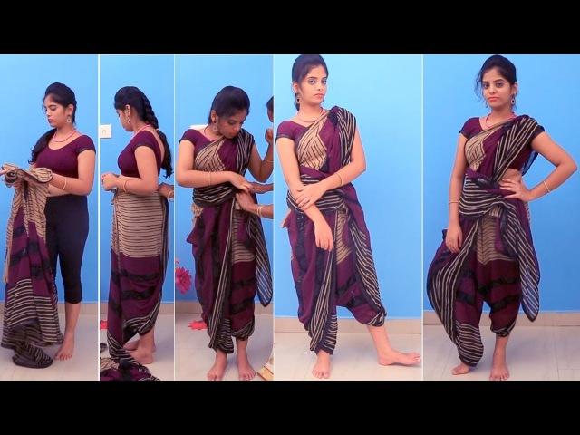 How To Drape The Dhoti Style Sari | saree design ideas| wedding guest engagement reception