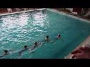 21 февраля 2018г. Выступление по синхронному плаванью. 3-е место.