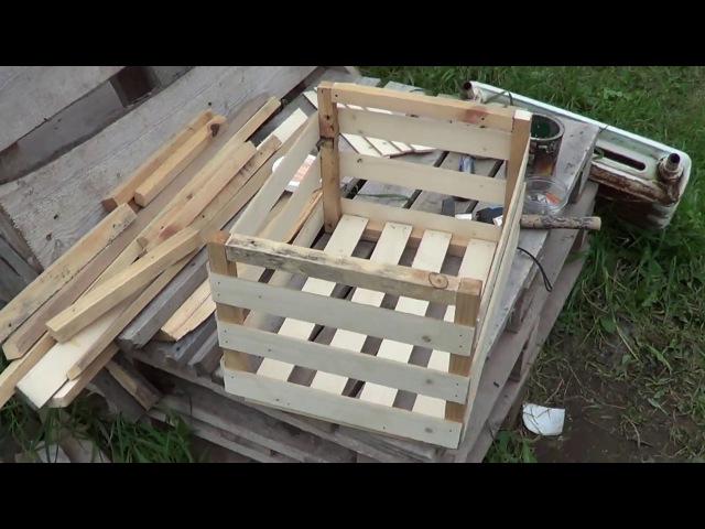 5 Поделки Ящик для овощей из обрезков и остатков досок