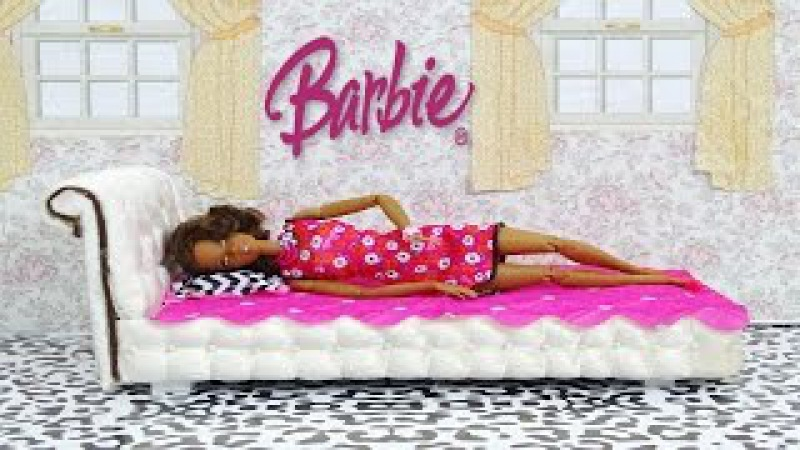 Barbie Doll Bed DIY - How to make a barbie doll bed