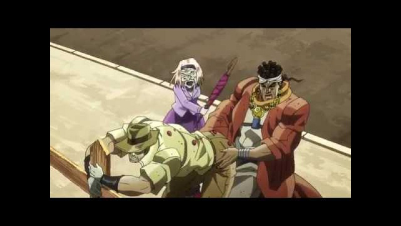 Avdol and Joseph get Stuck Together Jojo's Bizarre Adventure