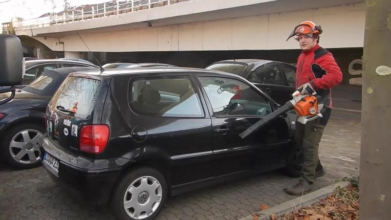 Обдув машины от опилок