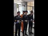 FANCAMPUBLIC EVENT 180309 Церемония назначения послами Korean National Fire Agency пожарного отделения.
