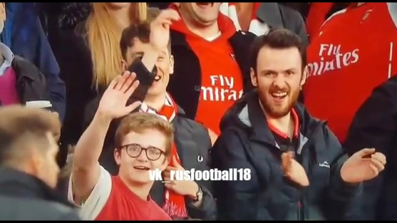 Реакция болельщиков Арсенала на удаление Симеоне | Арсенал 1:1 Атлетико