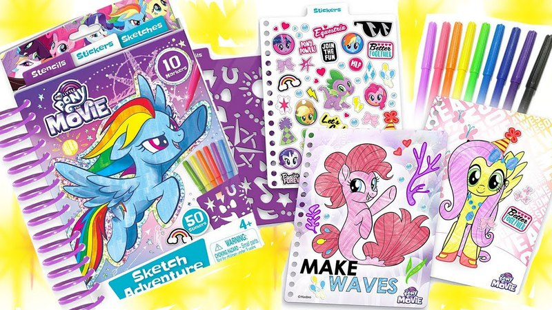 My Little Pony The Movie 2017 Sketch Adventure Coloring Book Crafts Activity Sea ponies MLP Toys