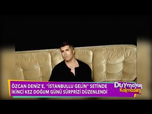 Özcan Denize istanbullu gelin setinde ikinci kez sürpriz doğumgünü partisi düzenlendi