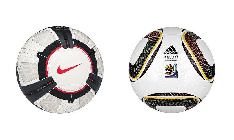 5bce1ece В 2010 году люди пинали хуи, тебя в школе и вот эти два объекта — Nike T90  Ascente, официальный мяч Английской Премьер-Лиги, и Jabulani от Adidas, ...