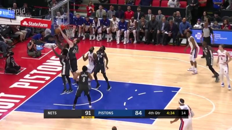 НБА | Детройт Пистонс 100-101 Бруклин Нетс | Обзор матча