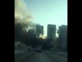 На Дмитровке у Петровско-Разумовской сильно горит здание