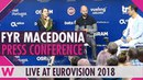 FYR Macedonia Press Conference: Eye Cue Lost and Found @ Eurovision 2018 | wiwibloggs