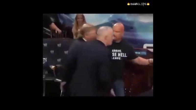 Драка Дональда Трампа с Винсом Макмэном