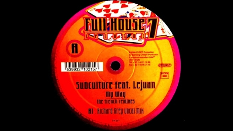 Subculture ★ my way ★ the french remixes ★ richard gray vocal mix
