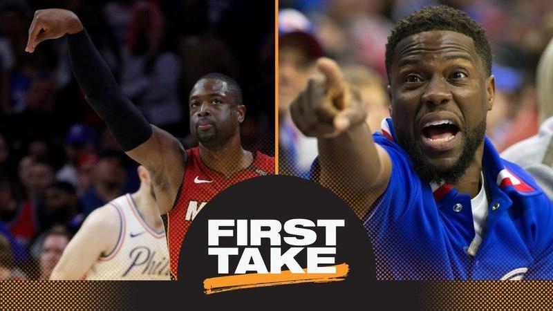 Stephen A Kevin Hart 'got his feelings hurt' by Dwyane Wade vs 76ers First Take ESPN