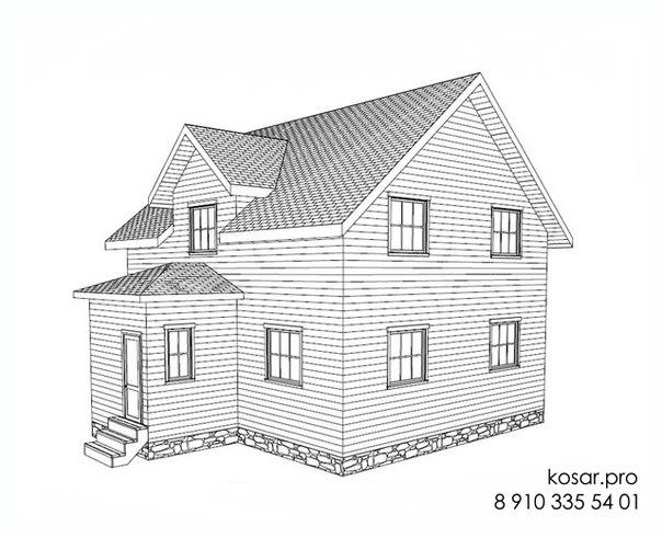 Одноэтажный дом с мансардным этажом 5020