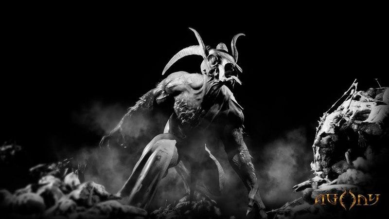 В геймплейном видео хоррора Agony герой отбивается от душ грешников в аду