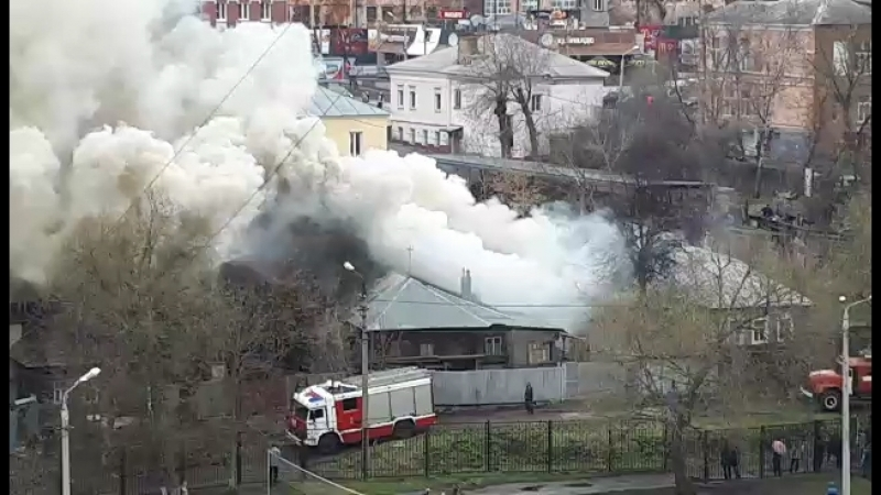 В Туле на Галкина горят дома сейчас