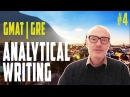 4 ANALYTICAL WRITING GMAT GRE VERBAL with PHILIP O'HANLON