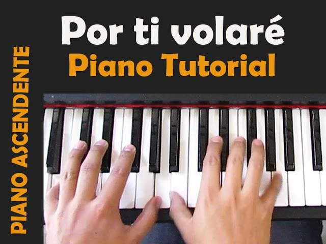 POR TI VOLARÉ (Time to say goodbye) -Andrea BocceliTutorial Piano