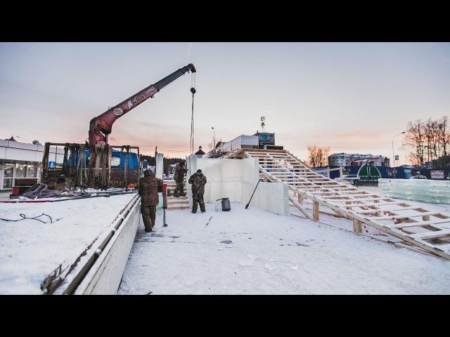 Новый ледовый городок в центре Ханты-Мансийска посвятили «Легенде Югры»
