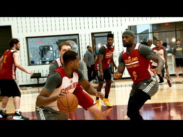 New Cavaliers Larry Nance Jordan Clarkson Rodney Hood George Hill Already Practicing with Lebron
