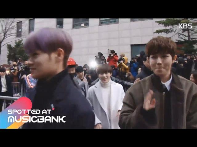 [Новости|YT][17.11.17] Донхён по дороге на Music Bank с красной командой-победителями первой миссии The Unit