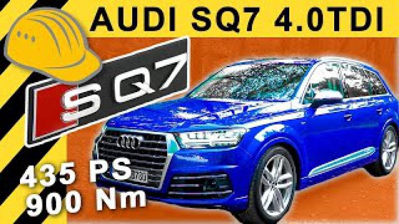 900Nm Dampfhammer! AUDI SQ7 V8 TDI TEST inkl. 3,5t Anhänger   Schnellstes Diesel SUV 2017?