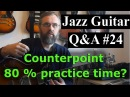 Jazz Guitar Q A 24 - Counterpoint - 80% practice time on standards? - Making decisions on soloing