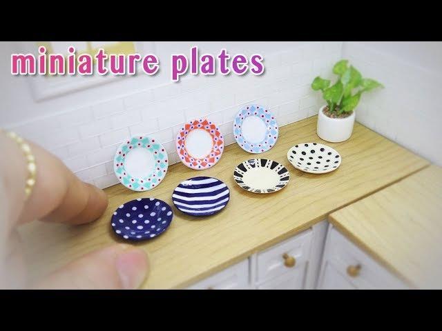 Doll kitchen 09 DIY miniature plates 미니어쳐 접시만들기