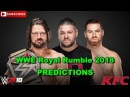 WWE Royal Rumble 2018 WWE Championship AJ Styles vs. Kevin Owens Sami Zayn Predictions WWE 2K18