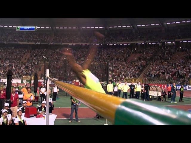 Mutaz BARSHIM High Jump 2.46m WR close attempt! - Brussels 2014 Diamond League