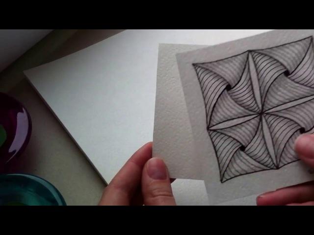 Вводный урок по рисованию Зентангл Дудлинг Раскраски антистресс