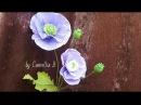 DIY Paper Opium Poppy flowers from crepe paper Hoa anh túc giấy nhún