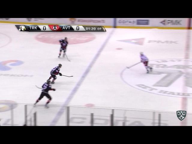 Моменты из матчей КХЛ сезона 16/17 • Гол. 0:1. Чистов Станислав (Автомобилист) 2 в 0 реализовал 17.01
