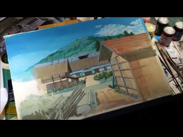 Рисунок по мотивам картинки художника Кадзуо Ога