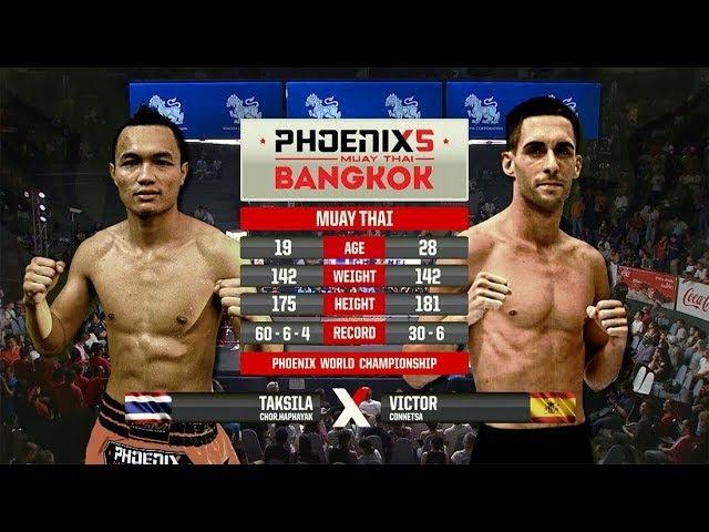 Taksila Chor. Haphayak Vs Victor Connetsa - Full Fight (Muay Thai) - Phoenix 5 Bangkok